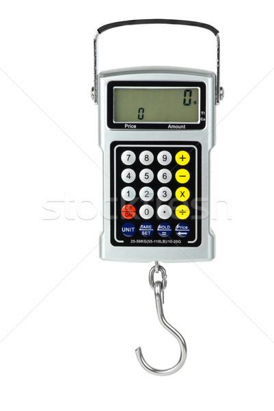 Digital fishhook scales with built-in calculator Stock photo © digitalr