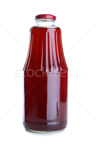 Stock photo: Pomegranate juice in the glass jar
