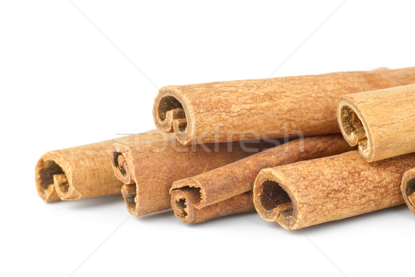 Few cinnamon sticks close-up Stock photo © digitalr