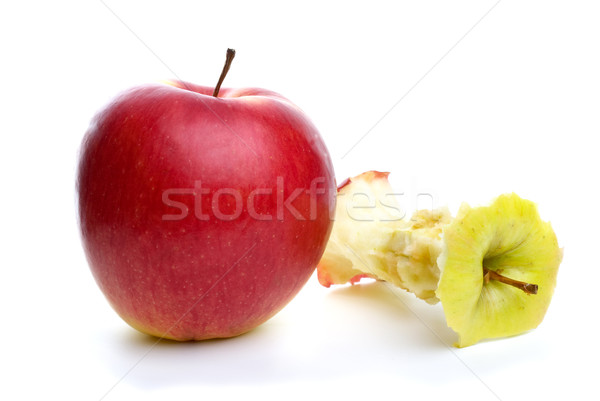 Whole apple and core Stock photo © digitalr