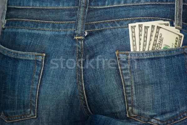 джинсов задний кармана 100 синий Сток-фото © digitalr