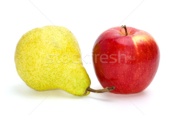 Red apple and yellow-green pear Stock photo © digitalr
