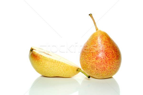 Whole yellow-red pear and half Stock photo © digitalr
