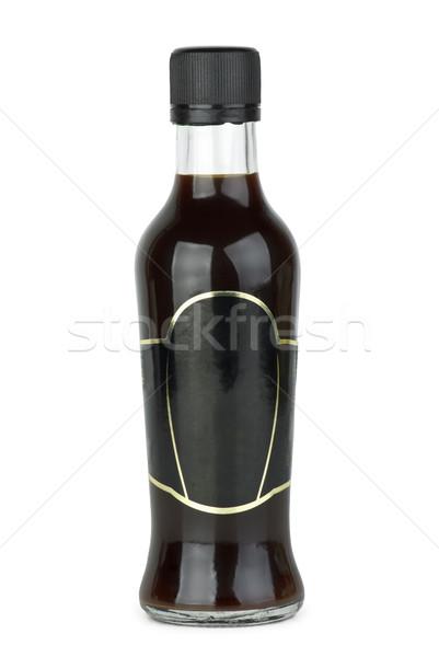 Cam şişe soya sosu yalıtılmış beyaz Stok fotoğraf © digitalr