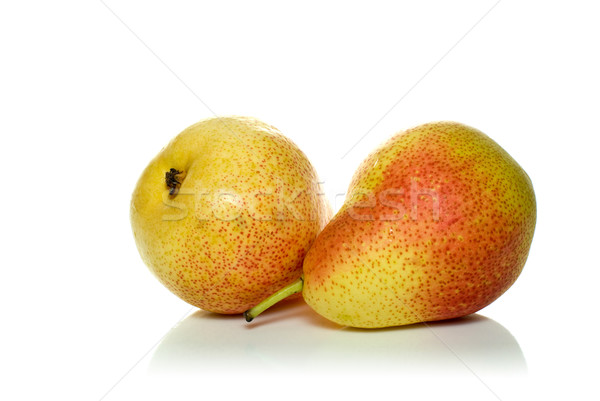 Pair of spotty yellow-red pears  Stock photo © digitalr