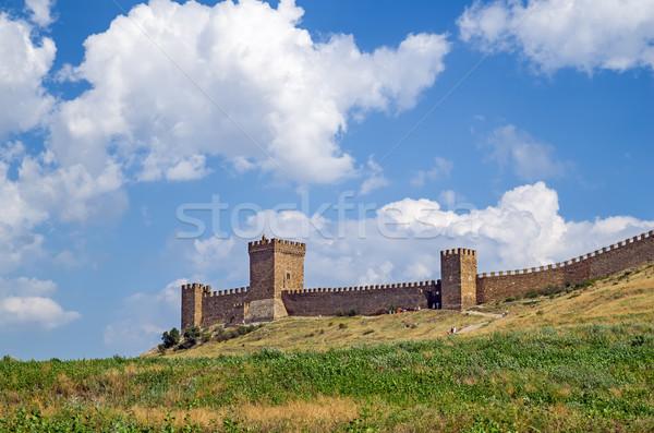 Genoese fortress. Crimea. Sudak Stock photo © digitalr