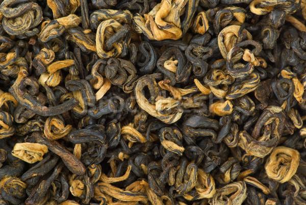 Fekete tea absztrakt közelkép levél Stock fotó © digitalr