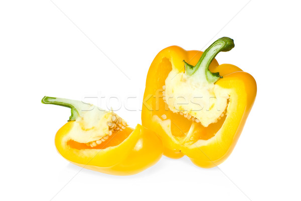 Two pieces of yellow sweet pepper Stock photo © digitalr