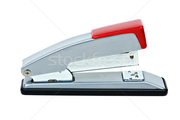 Cucitrice isolato bianco sfondo metal rosso Foto d'archivio © digitalr