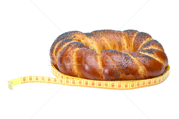Ring shaped fancy loaf with poppyseeds and measurement tape Stock photo © digitalr