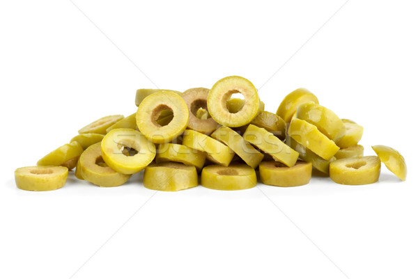 Small pile of sliced green olives Stock photo © digitalr