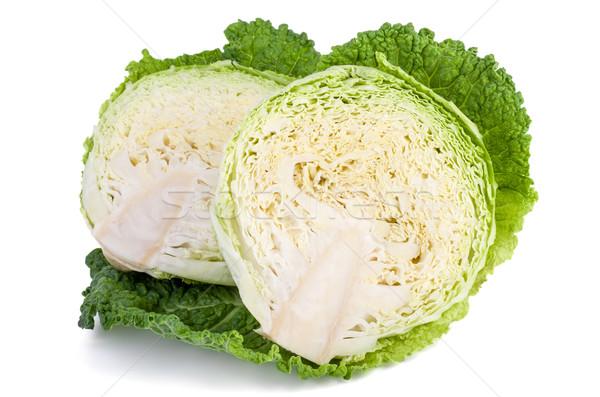 Savoy cabbage cutted on half Stock photo © digitalr