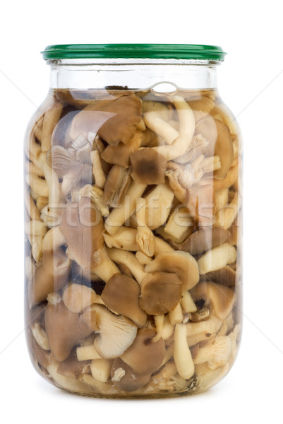 Vetro jar marinato miele isolato bianco Foto d'archivio © digitalr