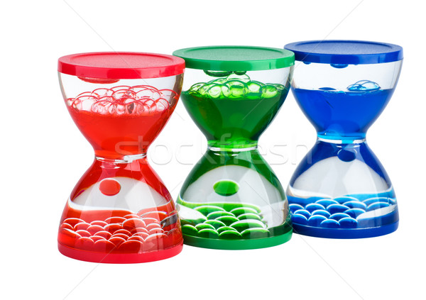 Three gel hourglasses Stock photo © digitalr