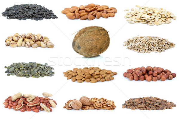 Set of different nuts Stock photo © digitalr