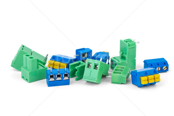 Different electrical connector blocks Stock photo © digitalr