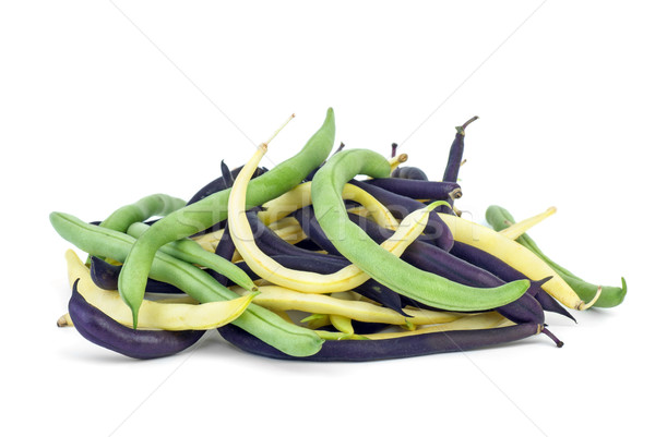 Purple, green and yellow Wax Snap Beans Stock photo © digitalr