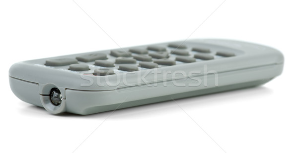 Minúsculo gris control remoto aislado blanco tecnología Foto stock © digitalr