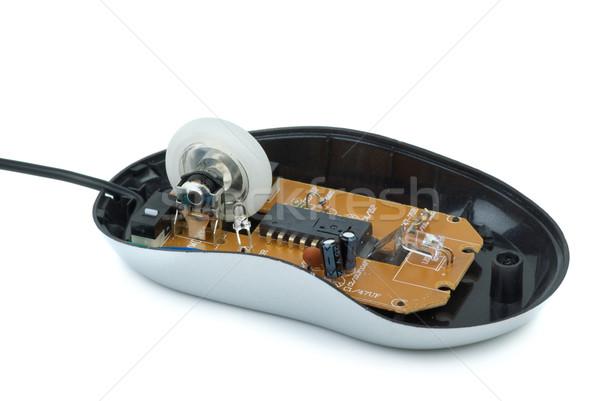 Içinde ucuz optik fare yalıtılmış beyaz Stok fotoğraf © digitalr