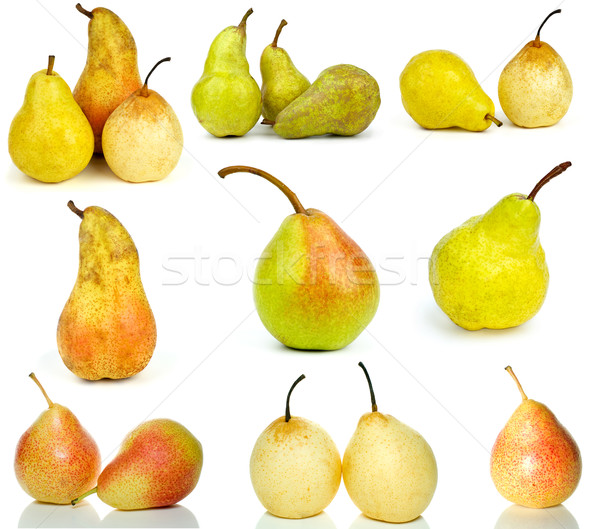 Set of different pears Stock photo © digitalr