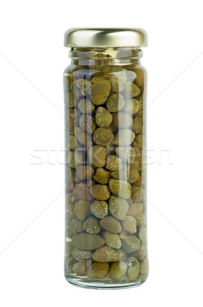 üveg bögre marinált fehér fűszer olasz Stock fotó © digitalr