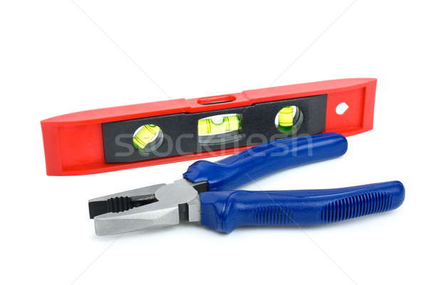 Bubble level tool and pliers Stock photo © digitalr