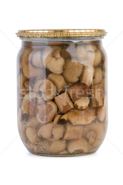 Vidro jarra marinado bétula isolado branco Foto stock © digitalr
