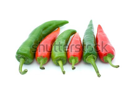 Some red and green hot peppers Stock photo © digitalr