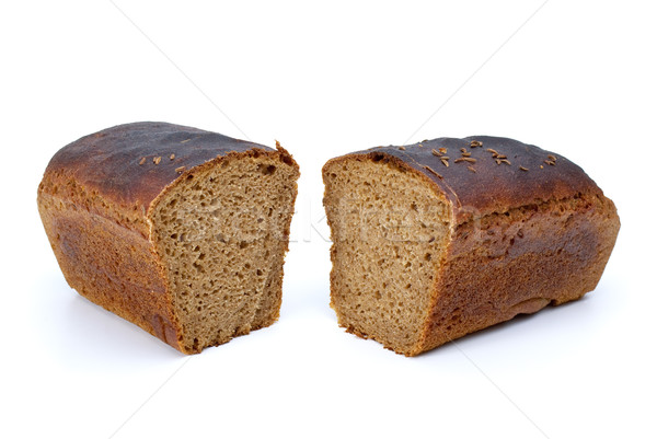 Two chunks of rye bread with anise Stock photo © digitalr