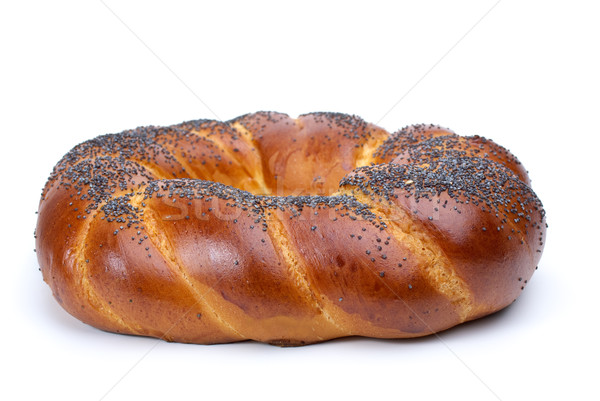 Ring shaped fancy loaf with poppyseeds Stock photo © digitalr
