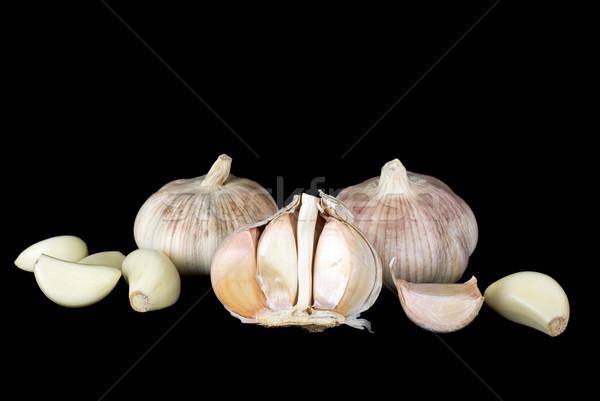 ニンニク クローブ 黒 食品 白 野菜 ストックフォト © digitalr