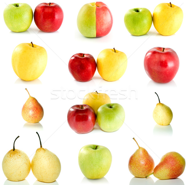 Set of different apples and pears Stock photo © digitalr