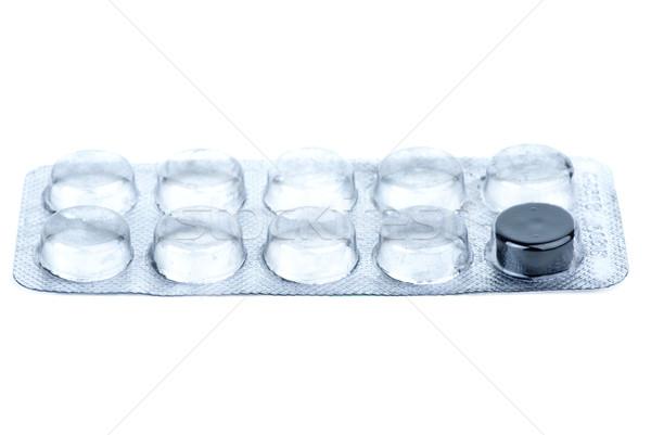 Blister wit last pill Stock photo © digitalr