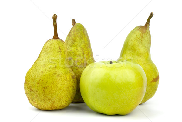 Three green pears and apple Stock photo © digitalr
