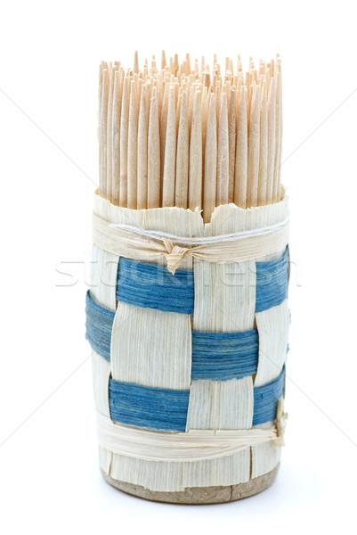 Bundle of wooden toothpicks Stock photo © digitalr