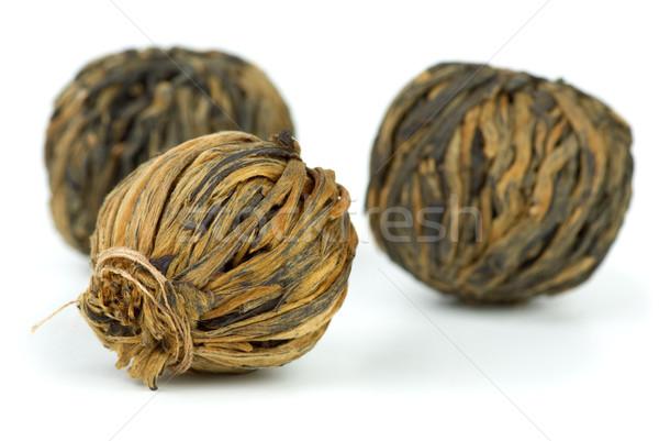 Closeup shot of braided yunnan black tea Stock photo © digitalr