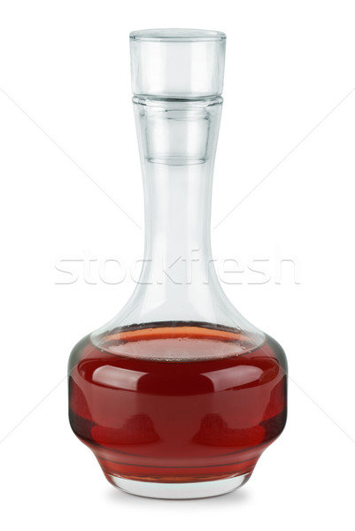 Small decanter with red wine vinegar Stock photo © digitalr