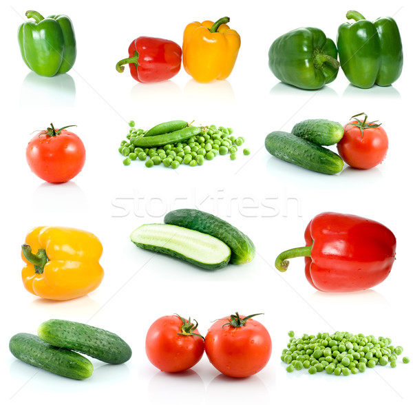 Set of different vegetables Stock photo © digitalr