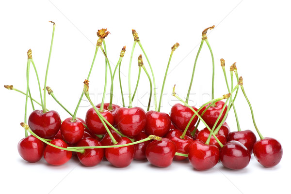 Some red cherries with stalks Stock photo © digitalr