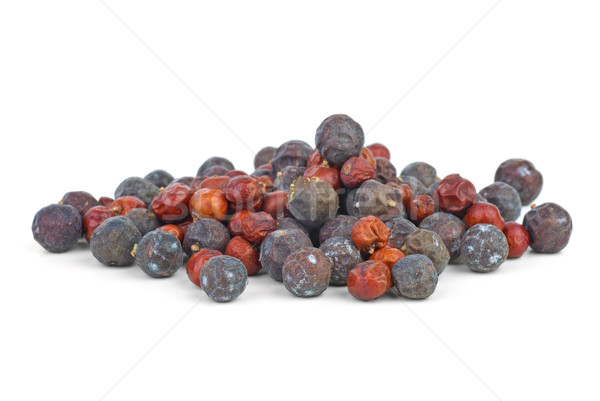 Herbs: small pile of dried red juniper and high juniper berries Stock photo © digitalr