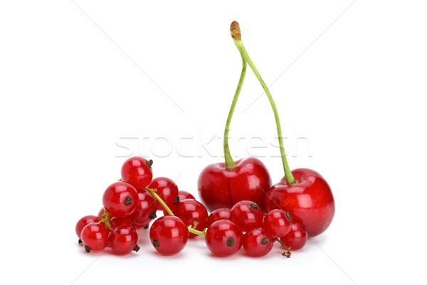 Redcurrants and cherries Stock photo © digitalr