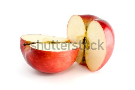 Two red apple halves Stock photo © digitalr