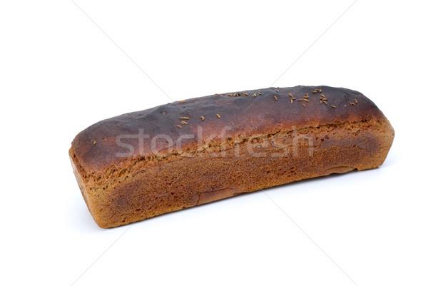 Somun çavdar ekmek anason yalıtılmış beyaz Stok fotoğraf © digitalr