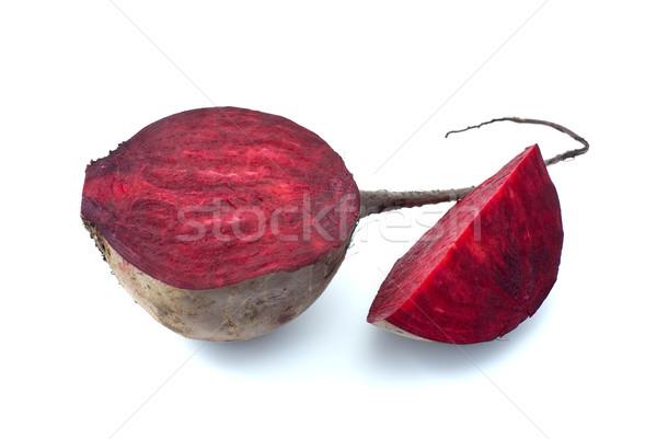 Mitad rebanada rojo aislado blanco alimentos Foto stock © digitalr