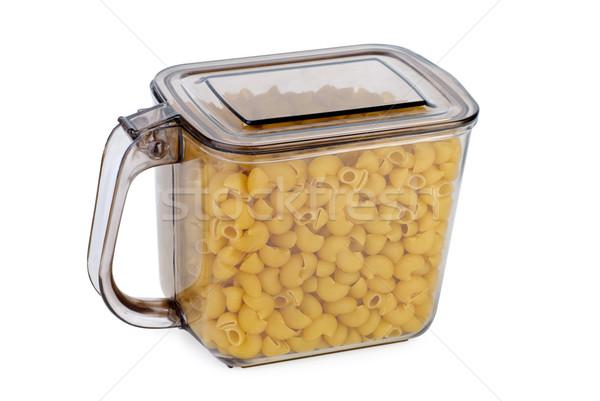 Keuken container macaroni geïsoleerd witte Stockfoto © digitalr