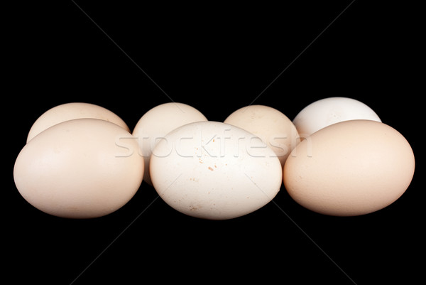Few chicken eggs Stock photo © digitalr
