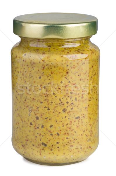 Mustár üveg bögre fehér étel Stock fotó © digitalr