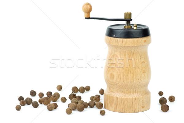 Wooden spice handmill and allspice  Stock photo © digitalr
