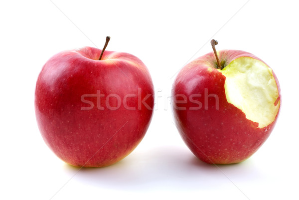 Whole and bitten apples Stock photo © digitalr