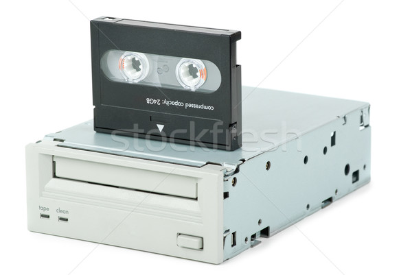 Internal tape drive unit and cassette Stock photo © digitalr